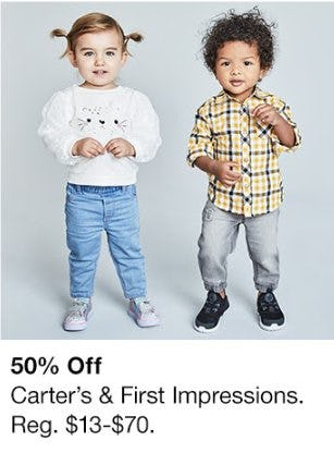 50% Off Carter's & First Impressions from macy's