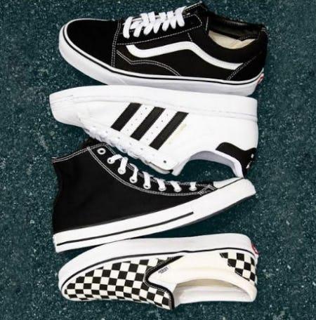 Vans. Adidas. Converse.