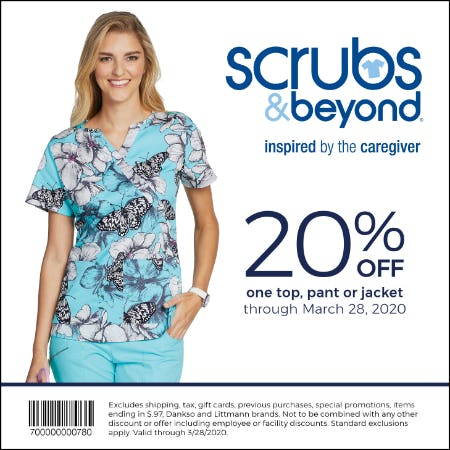 Scrubs & Beyond Spring Coupon from Scrubs & Beyond
