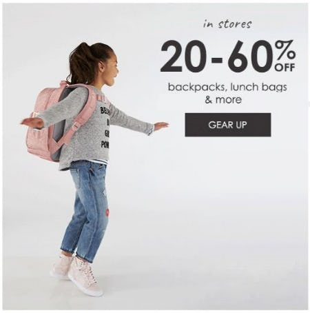 20–60% Off Backpacks, Lunch Bags & More from Pottery Barn Kids