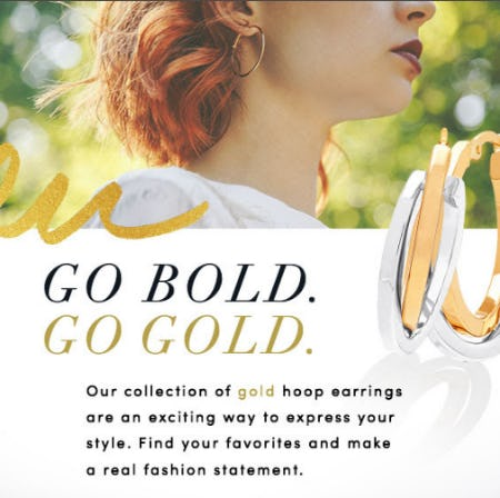 Our Gold Hoop Earrings Collection from Jared - The Galleria Of Jewelry