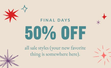 50% Off All Sale Styles from Coach