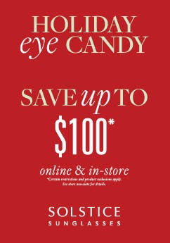 Solstice Sunglasses Holiday Eye Candy Sale