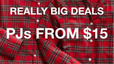 Really Big Deals: PJs from $15 from Gap