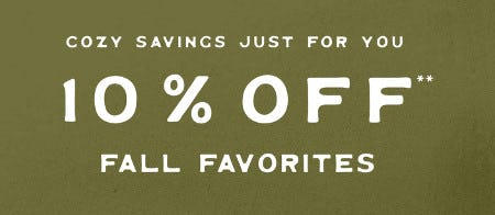 10% Off Fall Favorites from Fossil