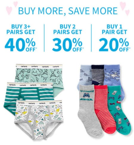 Buy More, Save More from Carter's