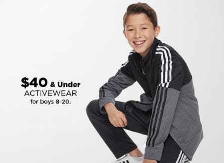 $40 & Under Activewear for Boys 8-20 from Kohl's