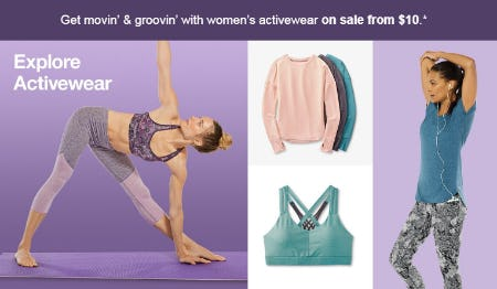 Women's Activewear on Sale from $10 from Target