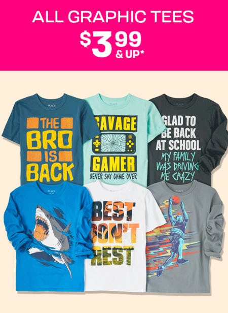 All Graphic Tees $3.99 & Up