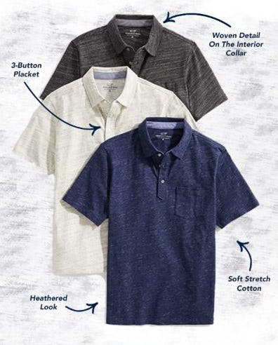 The Pacific Polo: Our Newest Heathered Polo from vineyard vines