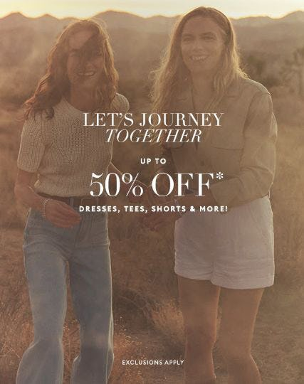Up to 50% Off Dresses, Tees, Shorts & More from Banana Republic