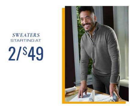 Sweaters Starting at 2 for $49 from Men's Wearhouse