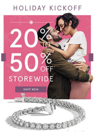 20% to 50% Off Storewide from Kay Jewelers