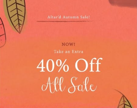 Extra 40% Off All Sale from Altar'd State