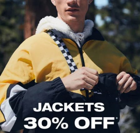 30% off Jackets from PacSun