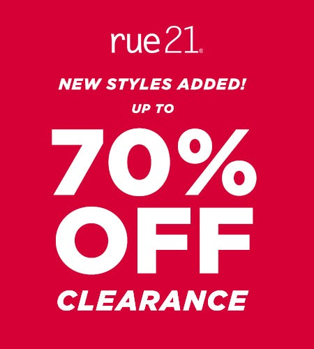 70% OFF CLEARANCE from rue21