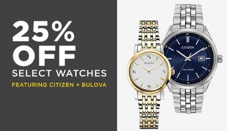 25% Off Select Watches from Lord & Taylor