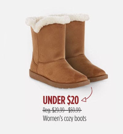 Under $20 Women's Cozy Boots from Sears