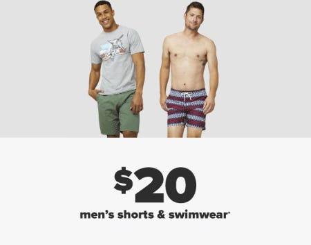 $20 Men's Shorts & Swimwear from Belk