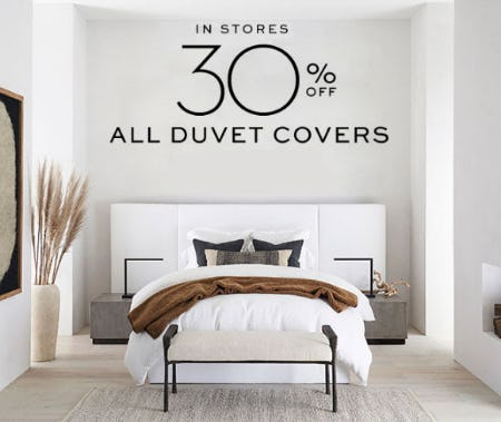 30% Off All Duvet Covers at Pottery Barn | The Woodlands Mall