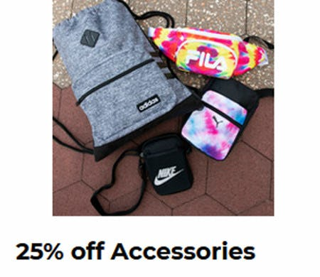 25% Off Accessories from Shoe Carnival