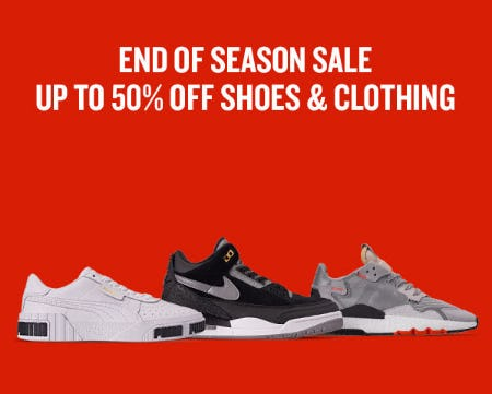 Up to 50% Off End of Season Sale from Finish Line