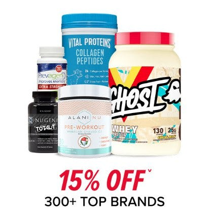 15% Off on Over 300 Top Brands