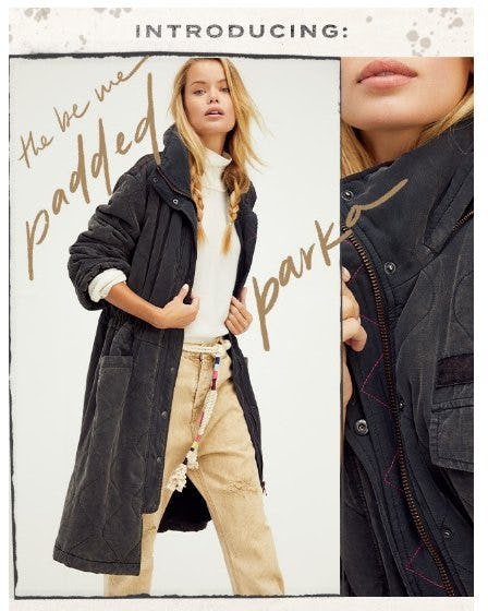 Introducing: The Be Me Padded Parka from Free People