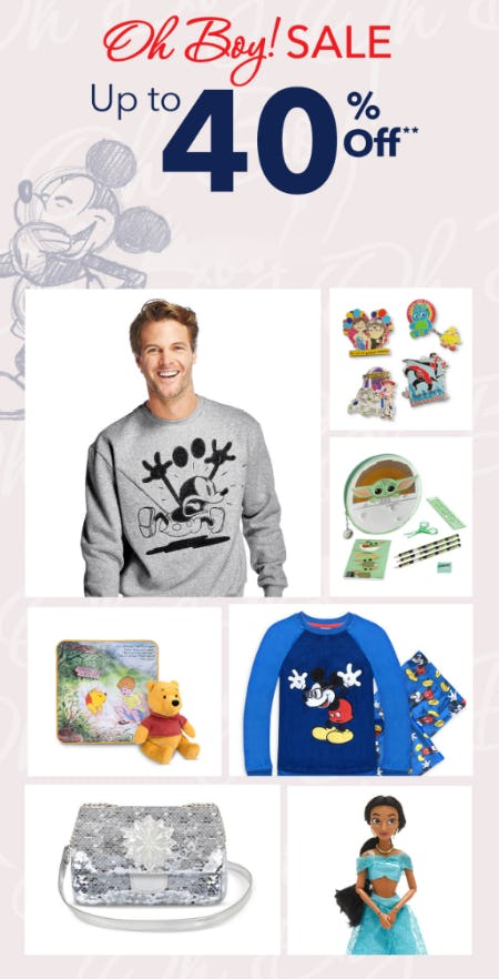 Up to 40% Off Sale from Disney Store