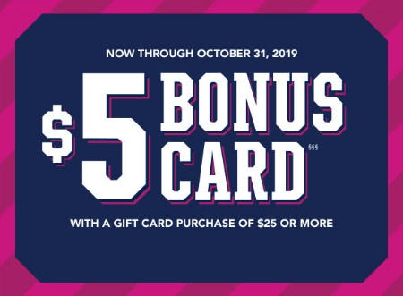 $5 Bonus Card with Gift Card Purchase from The Children's Place