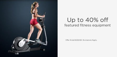 Up to 40% Off Featured Fitness Equipment from Sears