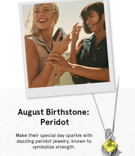 August Birthstone: Peridot from Kay Jewelers