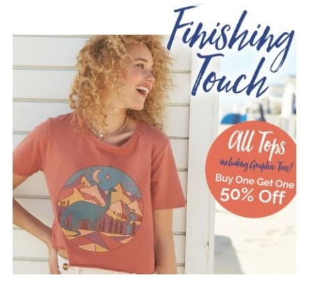 BOGO 50% Off Tops