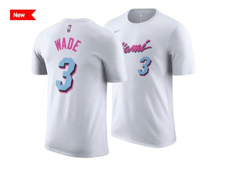 Miami Heat Dwyane Wade Nike NBA Men's City Player T-Shirt from Lids