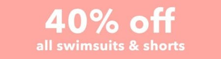 40% Off All Swimsuits & Shorts from Aerie