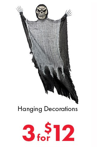 3 for $12 Hanging Decorations from Party City