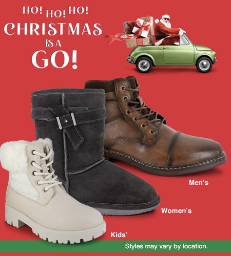 Christmas is a Go! from Shoe Dept. Encore