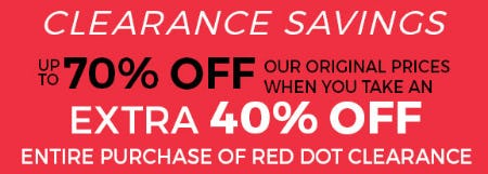 Red Dot Clearance Up to 70% Off from Stein Mart