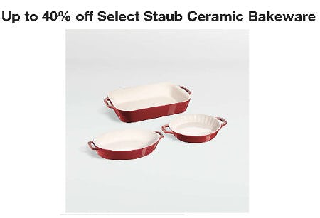 Up to 40% Off Select Staub Ceramic Bakeware from Crate & Barrel