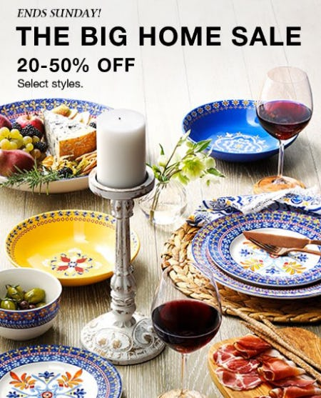 The Big Home Sale 20-50% Off from macy's