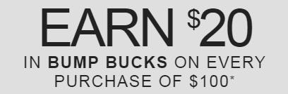Earn $20 in Bump Bucks on Every $100 Purchase from A Pea In The Pod