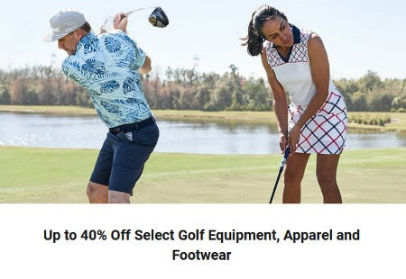 Up to 40% Off Select Golf Equipment, Apparel and Footwear from Dick's Sporting Goods