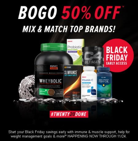 BOGO 50% Off Mix & Match Top Brands from GNC