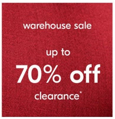 Warehouse Sale up to 70% Off from West Elm