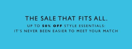 Up to 50% Off Style Essentials