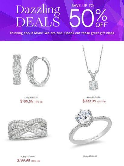 Dazzling Deals: Save up to 50% Off from Zales The Diamond Store