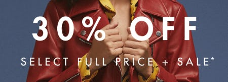 30% Off Select Full Price + Sale