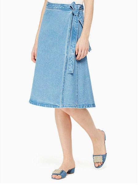 Vintage Denim Wrap Skirt from kate spade new york