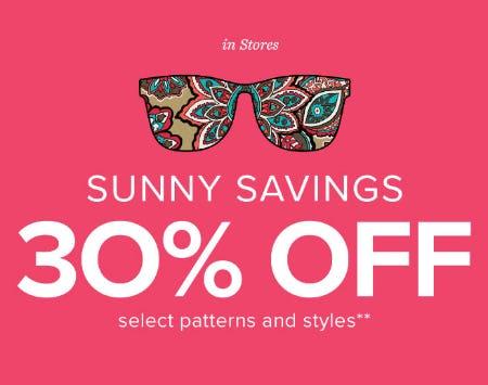 30% Off Summer Sale