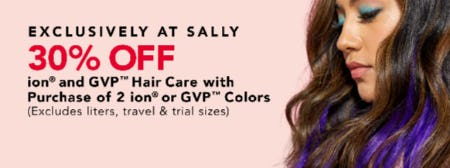 30% Off Ion & GVP Hair Care